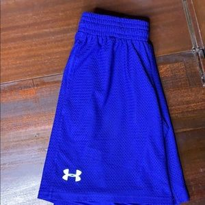 Under Armour royal loose basketball shorts Large